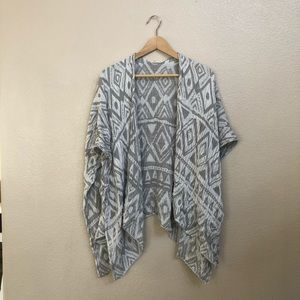 Silence + Noise open gray shrug